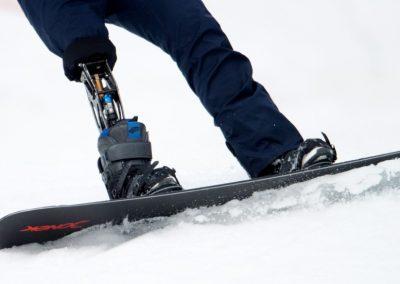 Snowboard Prosthetic Leg